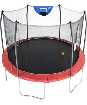 Skywalker - 12 foot trampoline with basketball hoop set (New) for Sale in Alexandria, VA