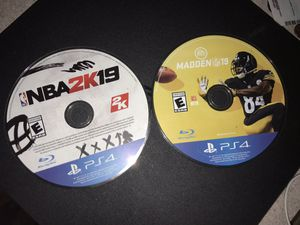 NBA 2k19 & Madden 19 for Sale in Tallahassee, FL
