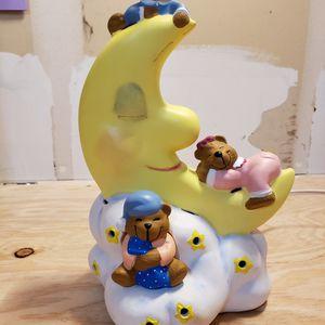 Teddy Bears On The Moon Ceramic Tabletop Nightlight for Sale in Kent, WA