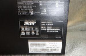 "Complete Desk tip computer// Acer Aspire// 24"" LG monitor for Sale in Fullerton, CA"