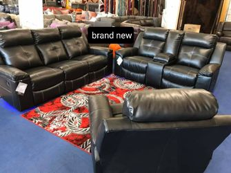 In Stock 🛍Kempten Black LED Reclining Living Room Set by Ashley 🛍Sofa and Loveseat for Sale in Beltsville,  MD