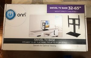 "ONN Swivel Base Mount for 32""-65"" TV for Sale in Charlotte, NC"