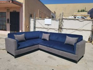 NEW 7X9FT BARCELONA NAVY BABRIC COMBO SECTIONAL COUCHES for Sale in Santa Ana, CA