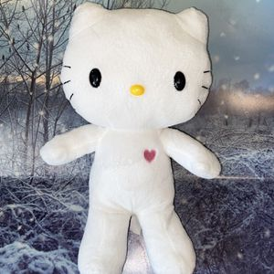 """Sanrio Hello Kitty white with pink purple heart 13"""" plush for Sale in Long Beach, CA"""