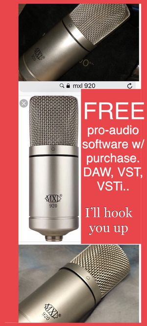 MXL 920 Pro Audio Studio Microphone MIC - cash or trade for Samsung Galaxy, iPhone, guitar, snap on tools or air compressor. READ AD for FREE software for Sale in Las Vegas, NV