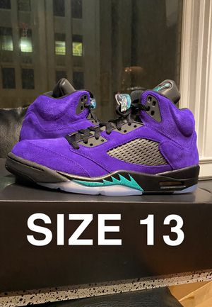 Nike Air Jordan Retro 5 Grape size 13 for Sale in Cleveland, OH