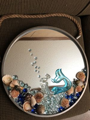 Custom Mermaid Mirror Decor for Sale in Doyline, LA