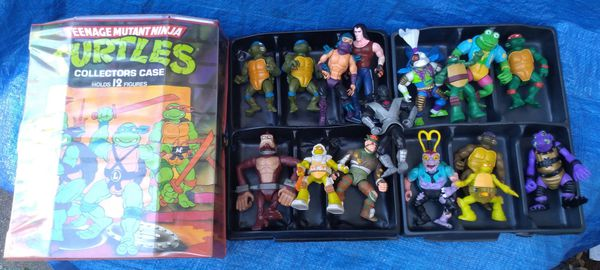 Teenage Mutant Ninja Turtles 1988 Collectors Case & Action Figure Lot TMNT