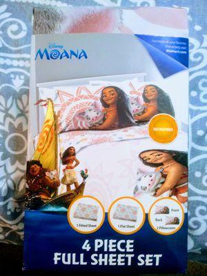 Disney Moana sheet set full. size 4pc for Sale in Grand Rapids, MI