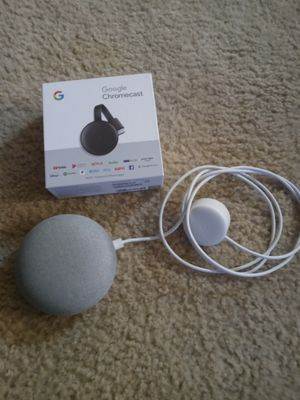 Google chromecast and Nest mini for Sale in Universal City, TX