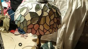 Tiffany trillium meydan antique Victorian stained glass floor lamps for Sale in Evansville, IN