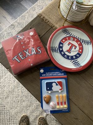 Texas Rangers Baseball party supplies ( brand new ) need gone ASAP for Sale in Flower Mound, TX