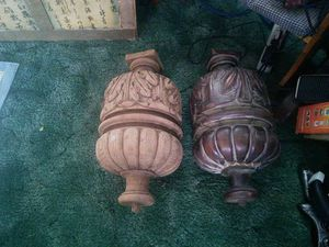 Set of large wood balls off an antique furniture for Sale in Nellis Air Force Base, NV