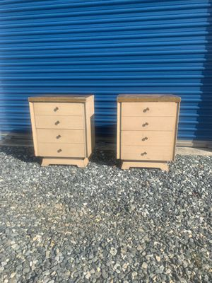 Pair project mid century end tables | bedside tables for Sale in Siler City, NC