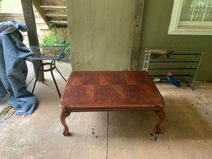 Coffee table, outside table, and shoe rack for Sale in Flowery Branch, GA