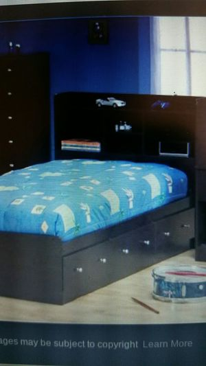 NEW Twin Bookcase Platform Bed with Storage Drawers for Sale in Denver, CO