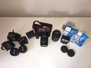 Canon EOS 70D Digital SLR Camera with accessories for Sale for sale  New York, NY