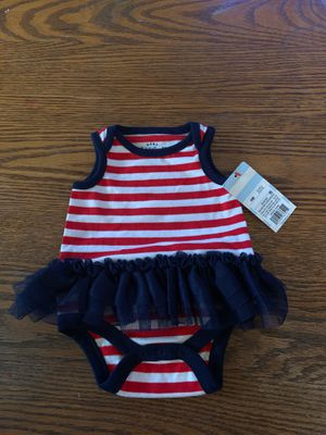 Brand New! Baby Girl 4th of July outfit, Newborn size for Sale in Tacoma, WA