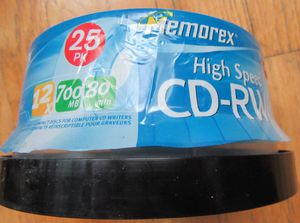 MEMOREX HIGH SPEED CD-RW 25 pk. for Sale in New York, NY