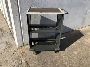 Metal rolling work shelf for Sale in Garland, TX