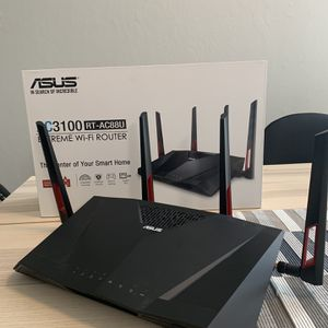 Asus AC3100 RT-AC88U Wi-Fi Router for Sale in Cupertino, CA