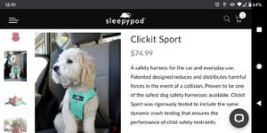 Sleepypod Clickit Car Harness for Dogs for Sale in Chandler, AZ