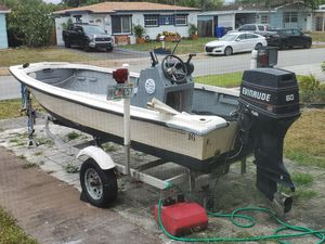 16' Flats Boat with Trailer for TRADE for Sale in Pembroke Pines, FL