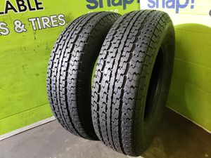 Two ST 225/75/15 LOAD RANGE D GOODYEAR MARATHON TRAILER TIRES, FREE MOUNT AND BALANCE!! for Sale in TWN N CNTRY, FL