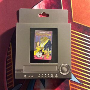 Beauty and the Beast VHS Box Disney Pin Limited Edition LE 1500 Disneyland Walt Disney World WDW Belle for Sale in Villa Park, CA