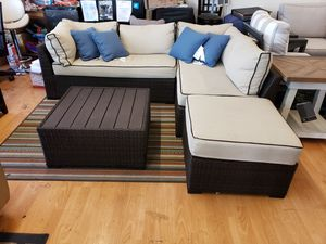 New 4pc outdoor patio furniture sectional sofa set tax included free delivery for Sale in Hayward, CA