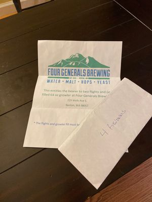 Free Beer Coupon for Sale in Renton, WA