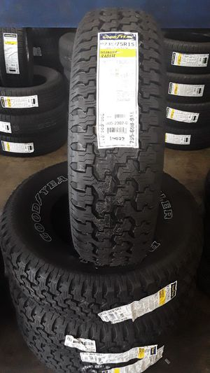Set of new Goodyear 235/75/15 Free professional installation & balancing for Sale in Santa Ana, CA