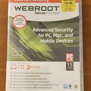WEBROOT - Anti VIRUS SOFTWARE for Sale in Los Angeles, CA