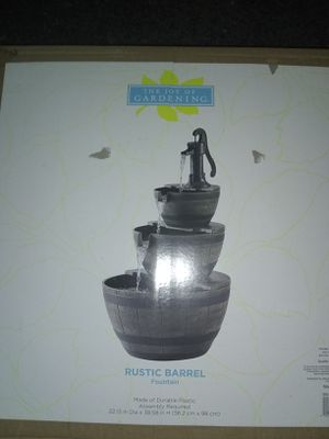 Rustic Barrel Fountain BRAND NEW IN BOX for Sale in Colorado Springs, CO