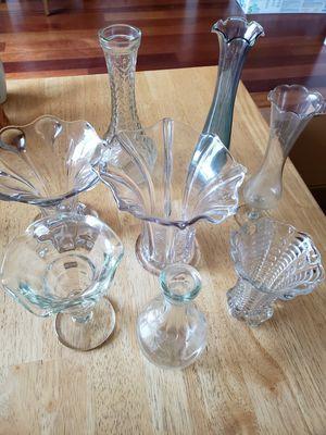 Variety of glass flower vases for Sale in Gresham, OR