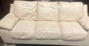 White leather couch for Sale in Smyrna, TN