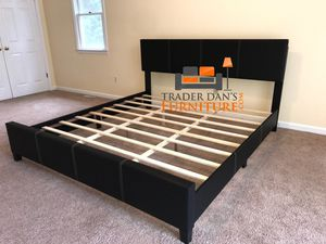 Brand New King Size Leather Platform Bed Frame for Sale in Wheaton-Glenmont, MD