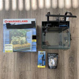 Marineland 3 gallon tank w/ Tetra HT10 heater for Sale in Irvine, CA