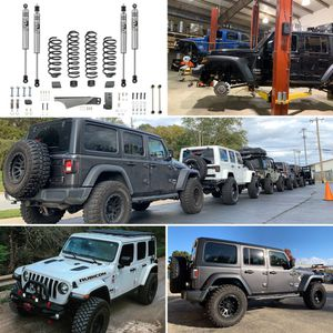 Jeep Wrangler JK JL JT rubicon gladiator unlimited lift kits in stock springs and shocks $329 parts only for Sale in Joliet, IL