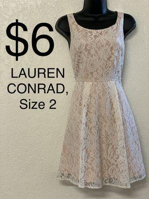 LAUREN CONRAD, Beige Lace Sleeveless Dress, Size 2 for Sale in Phoenix, AZ