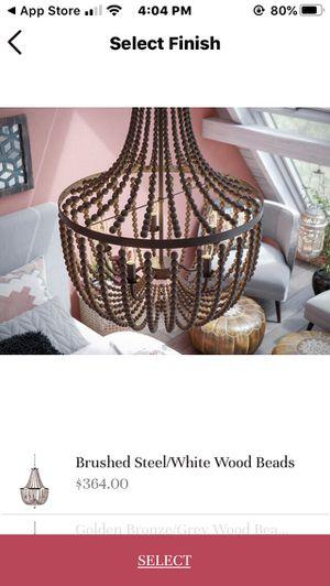Grey bead chandelier for Sale in Hillsboro, OR