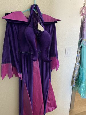 Maledicente Disney Store Costume dress and horns size 9/10 for Sale in Scottsdale, AZ