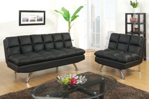 Brand New Black Futon Sofa and Love Seat for Sale in Austin, TX
