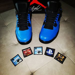 "Ait Jordan 4 Custom ""Playstation"" Size 13 for Sale in Orlando, FL"