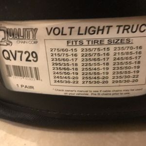Light Truck/ Van Tire Snow / Ice Cables for Sale in Whittier, CA