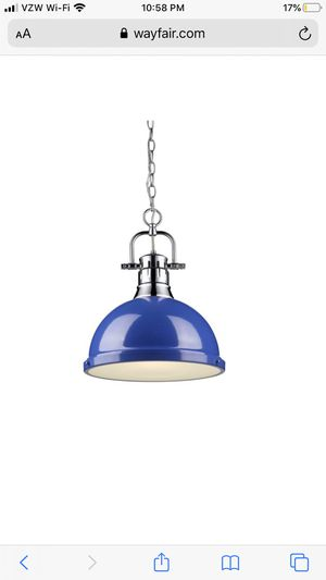 Blue dome pendant light for Sale in Spring, TX