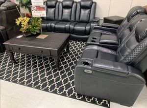 Ashley Party Time Midnight Power Reclining Living Room Set FREE DELIVERY for Sale in Austin, TX