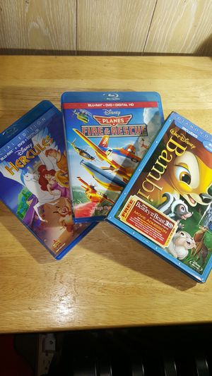 3 Children's Blu-Ray Movies Including Bambi The All Time Classic for Sale in Marysville, WA