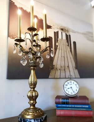 Gorgeous Vintage Victorian Candeleir Table Lamp with Beautiful Design and Excellent Condition!! 30H 13W for Sale in Mountain View, CA