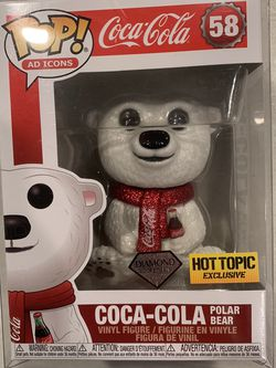 Diamond Coca Cola Bear Funko Pop *MINT* Hot Topic Exclusive Coke Ad Icons 58 with protector for Sale in Lewisville,  TX